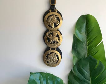 Equestrian Brass Wall Hanging / Horse Collar