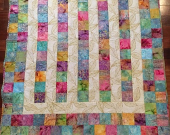 Everything Glitters That's Gold Quilted Blanket