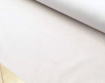 1 mtr x 112 cm Pure Cotton Woven Lightweight Iron on Fusible White Interfacing - Equiv. Shape Flex Pellon SF 101