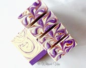 Violets in Lilacs Organic Luxury Body Bar / Handcrafted Natural Soap / Goats Milk Soap / Cream Soap / Organic Ingredients / Whipped Upp