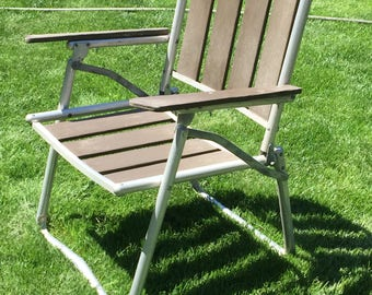 Mid century wood lawn chair