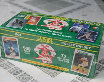 1991 Score Collector Set Baseball Cards, Factory Sealed, 900 Player Cards, 72 Magic Motion Trivia Cards/MLB/Baseball Cards/Vintage Baseball