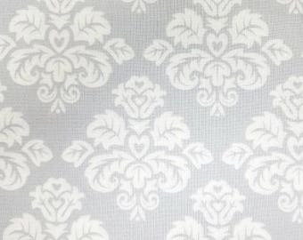 Something Old Something New - Damask in Platinum Gray / White - Grey Cotton Quilt Fabric - Quilting Treasures Fabrics - 22281-KZ (W4090)