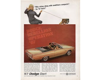 Poster advertisement for a 1967 Dodge Dart - 25