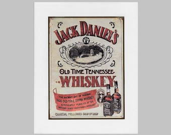 Copy of Vintage poster advertisement on foam board of Jack Daniels