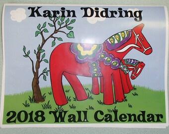 2018 Swedish Dala Horse Calendar by Karin Didring #KD2018