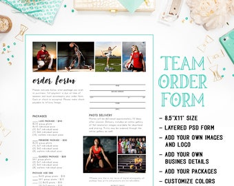 School Dance Or Dance Team Photography Order Form Template