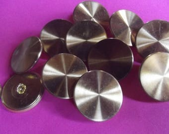 10 round gold buttons 27 mm in diameter metal sold in sets