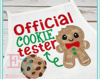 Official Cookie Tester Applique - This design is to be used on an embroidery machine. Instant Download