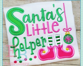 Santa's Helper Design - This design is to be used on an embroidery machine. Instant Download