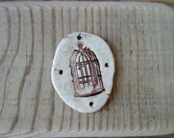 Ceramic decoration Bird Cage handmade