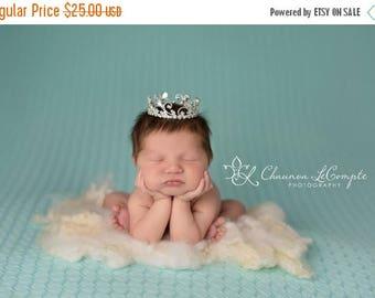 SALE Austrian Crystal Rhinestone Crown, Princess Crown, Newborn Crown, Newborn Baby Prop, Mini Crown, Newborn Photo Prop, Aubree