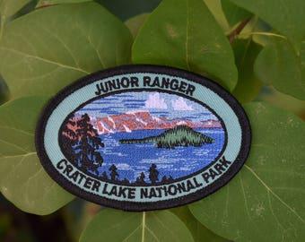 Vintage Crater Lake National Park Patch - Junior Ranger