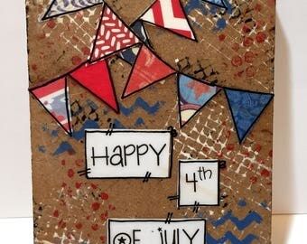 Happy 4th of July, Patriotic Wall Art, Red, White and Blue Banners, Patriotic Decor, USA,