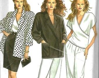 25% OFF New Look 6262  Misses Jacket, Top, Skirt, Pants     Size 8-18    Uncut