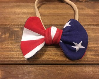 American Flag bow, Fourth of July hair accessories