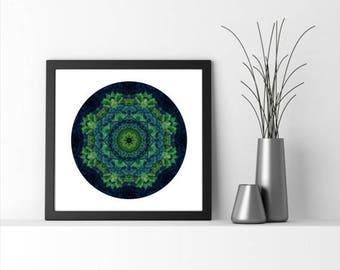 ON SALE Extra large wall art - Green Wall Art - Mandala Art - Meditation - Statement Art - Forest Art  - Spiritual Art -