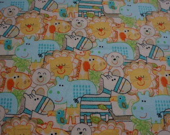 Baby & Toddler  Cotton and Minky Blanket * Baby Animals