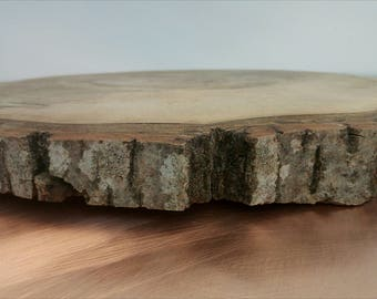 "16"" Cake stand, cake holder, wood cake stand, wood slab, rustic cake stand, wedding, decor, rustic cake base, slab cake stand"