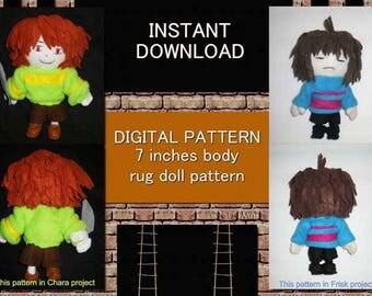 PDF + JPEG Pattern, doll pattern, doll pdf Pattern, Rag Doll pattern, fabric doll body pattern,soft fabric doll pattern, plush toy pattern,