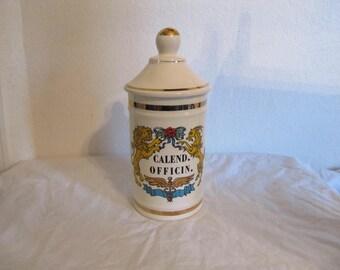 Calend. Officin. Large Vintage Apothecary Jar