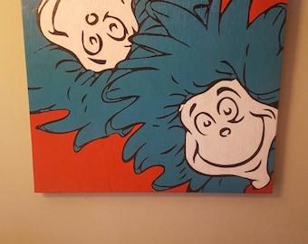 Dr.suess wall decor