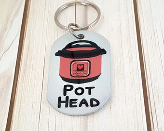 Instant Pot Sublimated Keychain | IP | Instapot | Pressure Cooker | Gift for Wife | 6 Colors to Choose from