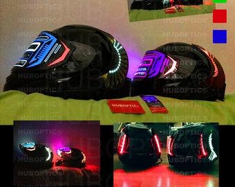 Helmet Light Up Robot Rider Helmet - LED DJ Helmet for Cyborg Party Costume Cosplay Superhero Villain Motorcycle Ai Bot Head LED Visor Scifi