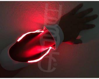 LED Sleeves - Cyborg Arm Sleeves - Pair Sound Reactive Sleeves - Light Up Sleeves LED Arm Cosplay Robot Costume Futuristic DJ Hand Sleeve