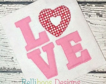 valentine applique - heart applique - love applique - holiday applique - Valentines Day applique - valentine embroidery - heart embroidery