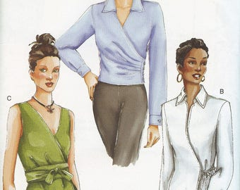 Vogue 7232 Misses Blouse and Top Sewing Pattern Sizes 14 to 18 New Uncut