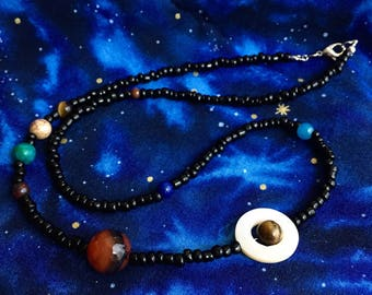 Solar System - The Solar System Collection by spacecrafty - Beaded Necklace