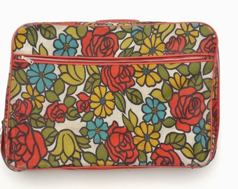 Floral suitcase | Etsy