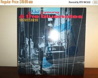 Save 30% Today Vintage 1988 Vinyl LP Record This Note's For You Neil Young & The Blue Notes Near Mint Condition 11213