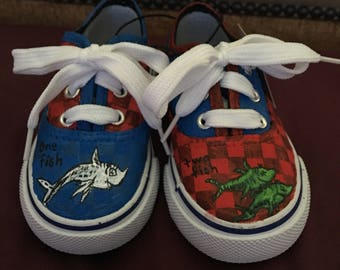 Dr seuss hand painted shoes