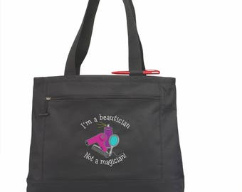 Hairdresser Gift/ Hairstylist Gift/ Hairdresser Tote Bag/ I'm A Beautician Not A Magician Hairdresser Bag/ Hair Stylist Tote Bag/ Stylist