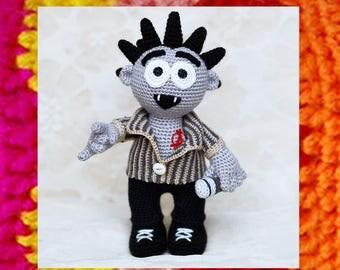 Amigurumi Pattern. Crochet Punk Rocker. Amigurumi Doll. DIY. OOAK