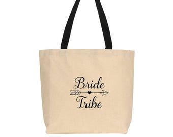 Bridesmaid Tote Bag - In 9 Designs - Bridesmaid Gifts, Bride Tribe, Bride Squad, Bride's Entourage, Gifts for Bridesmaids, Bridesmaid Tote