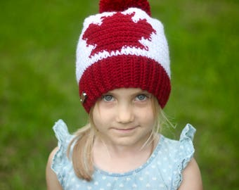 Canada Day Hat, Maple Leaf Hat, Canada, Canadian, Red and White, Canadian Flag, Slouchy Hat, Kids Hat, Adult Hat, Canada 150, July 1st,