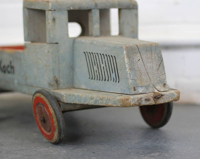 Large Wooden Childrens Toy Truck Circa 1920s