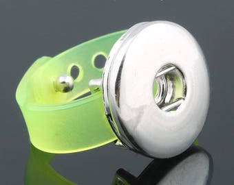 NEON yellow silicone snap ring