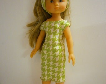 50s style dress corolle doll babies or 33cm doll handmade. Cotton