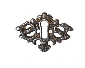 Beautiful Brass Key Hole Cabinet and Door Hardware DARKENED