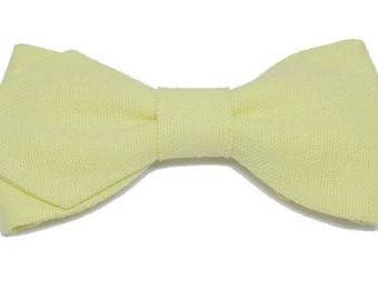 Lime green bowtie with sharp edges