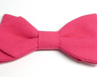 Hot pink bowtie with sharp edges