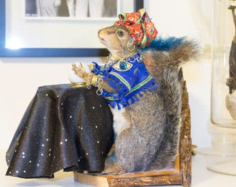 "Vintage Fortune Teller Squirrel ""Madame Zeroni"""