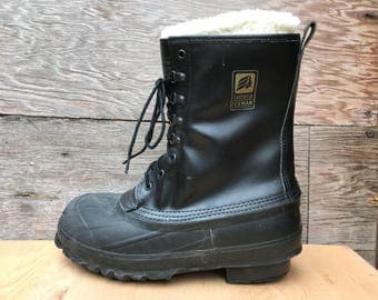 Lacrosse Iceman Snow Boots - Steel Toe Safety ANSI Z41 Extreme Cold Work Boot - US Men's size 8-9 Women's 10 - 11