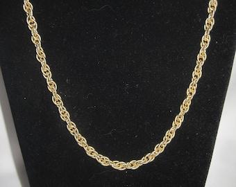"Trifari Gold Tone Chain 24"""
