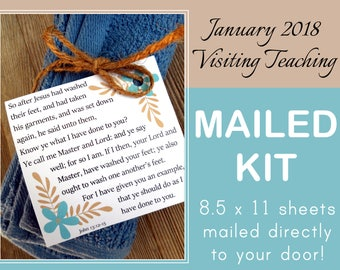MAILED KIT - January 2018 Visiting Teaching, MAILED 8.5 x 11 sheets, Lds Relief Society