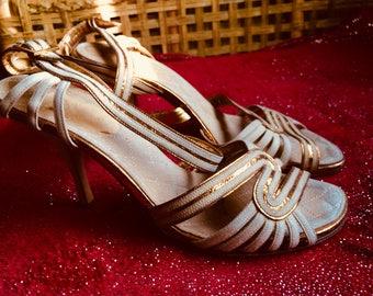 CHANEL vintage strapy heels SZ 40